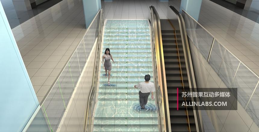 楼梯互动地面方案设计,互动投影