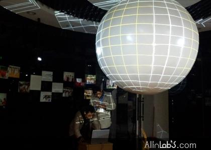 苏州实验小学球幕搭建