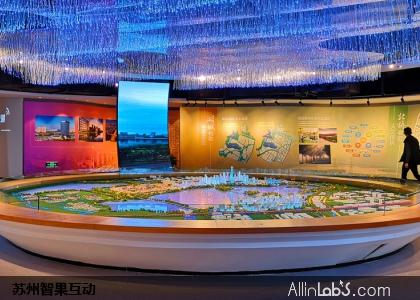 苏州漕湖开发区沙盘联动系统